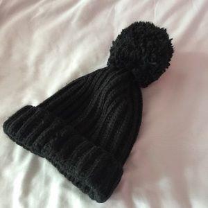 BDG Urban Outfitters black pom pom hat